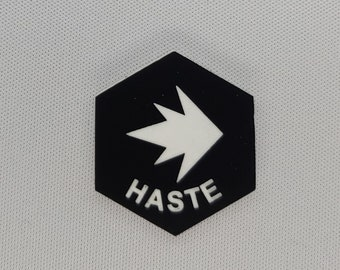 Haste (v3) Token(s) -   Plastic   Laser Engraved   Magic the Gathering (MtG)