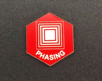 Phasing (v2) Token(s) -   Plastic   Laser Engraved   Magic the Gathering (MtG)