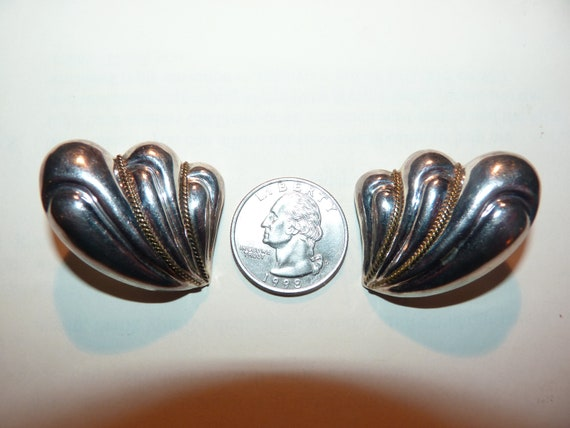 Vintage Sterling Silver Taxco Mexico Flower Daisy Heart Eagle Mark Size 9 Ring