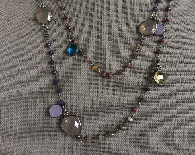 SOLD! This item is no longer available. Assorted Gems and Stones Necklace