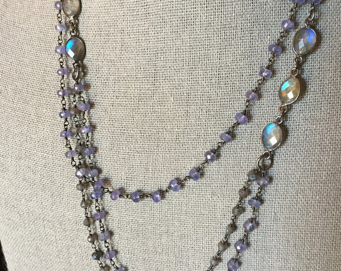 Iolite and Labradorite necklace