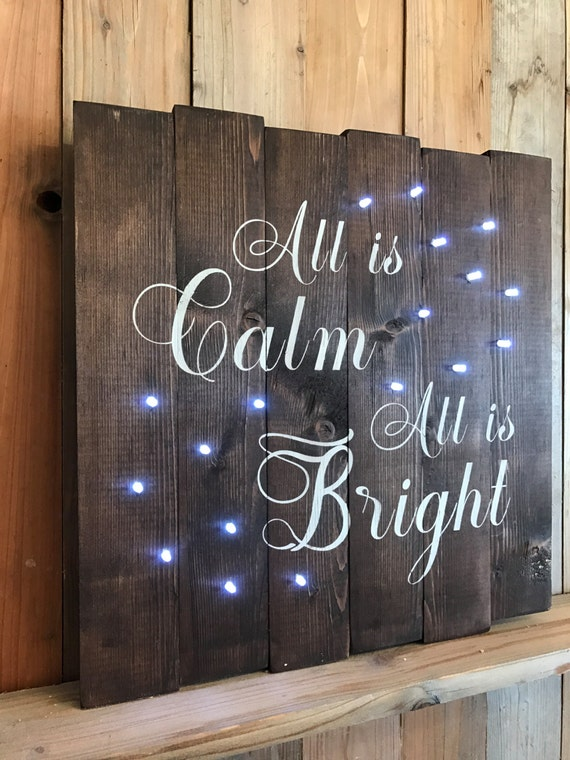 Christmas Lighted Sign.All Is Calm All Is Bright Lighted Sign Christmas Decor All Is Calm Sign All Is Bright Lighted Sign Christmas Lights Christmas