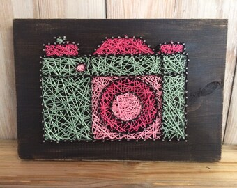 Camera String Art, Lomography, Camera Decor, Photographer Gift, Photographer Decor, String Art, Photography String Art