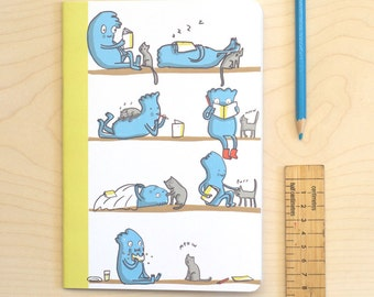 SALE! Everyday Cat and Character Blank Notebook