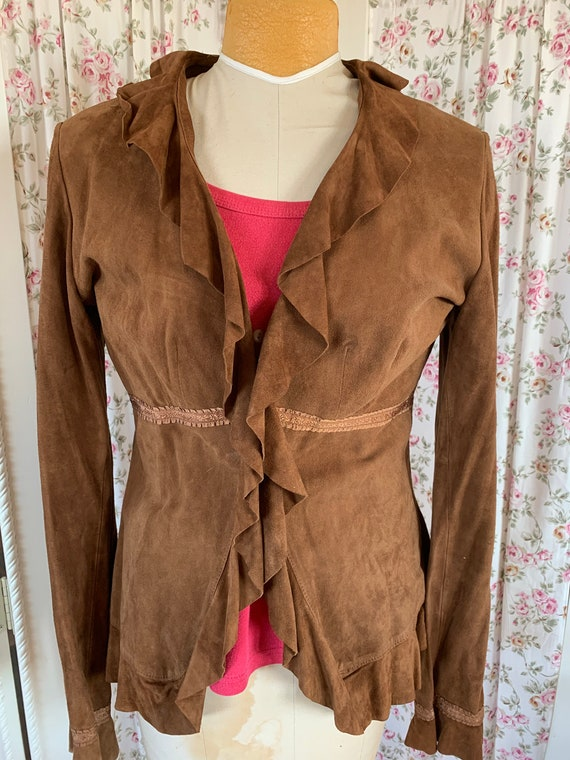 Cutest suede shirt jac ever! SZ 7/8