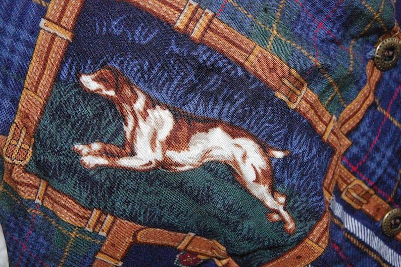 Koret City Blues dog print reversible ladies vest SZ Medium.