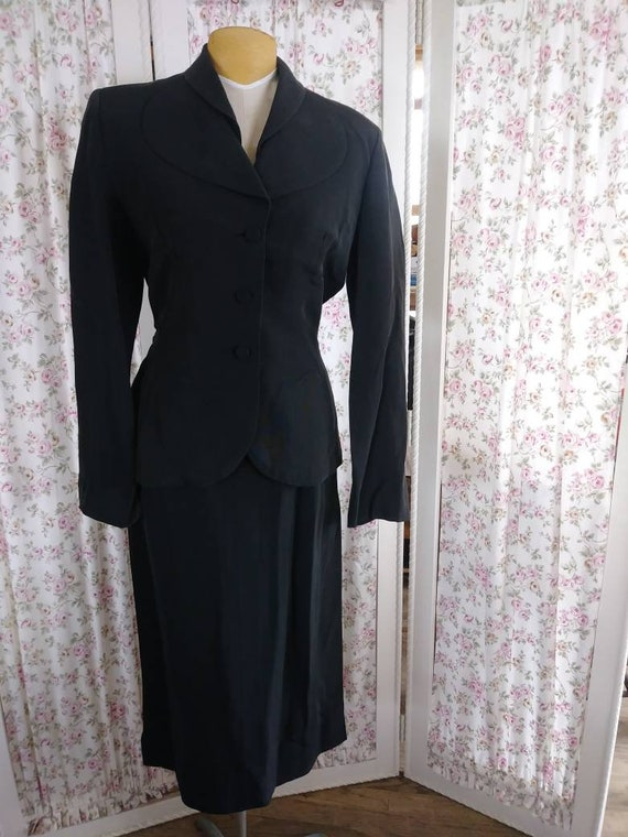 1940's Irene black suit.