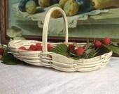 Antique Berry-picking Basket, French basketweave art