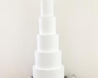 "30"" inches tall cake, tall wedding cake, fake cake"