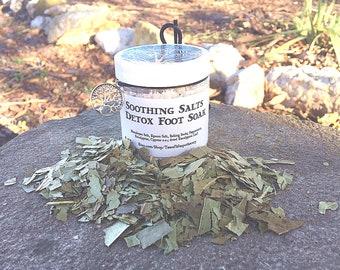 Soothing Salts Detox Foot Soak 4 oz. Peppermint Eucalyptus