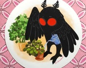 Mothman in the garden sticker