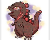 Heckin Chonkers Shin Godzilla mini print
