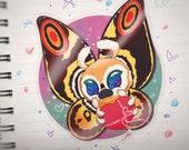 Fluttery Valentine Kaiju sticker