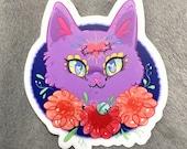 Sacred heart kitty sticker