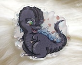 Heckin' Chonker Godzilla - clear acrylic pin