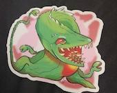 Heckin' Chonker Biollante - clear sticker