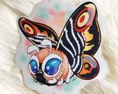 Heckin' Chonker Mothra - clear sticker