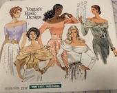 Vogue 2227 Basic Design top UNCUT FF SZ.12-4-16
