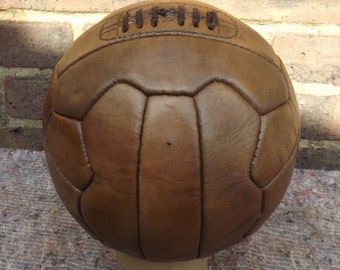 Vintage Style Old Fashioned Leather Football  12 Panel or 18 Panel Pattern superb Gift.