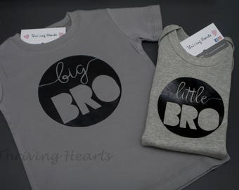 52446046a Big Bro/Little Bro shirts. Big brother, little brother shirts. New brother!  New Sibling!