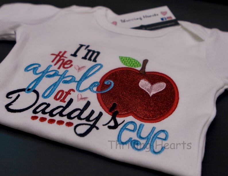 064c89161 I'm the apple of Daddy's eye. Fathers Day shirt or | Etsy