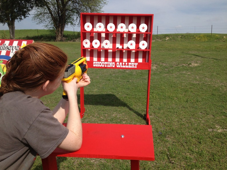 Shooting Gallery Carnival Game compatible with Nerf guns  Trade Show,  Rental, Birthday, Church, VBS or School Party  Carnival Games