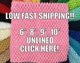 e8da3b742c5 BUBBLEGUM PINK Crochet Tutu Top 6 inch