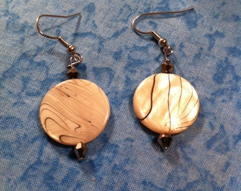 Dyed Mother of Pearl Earrings