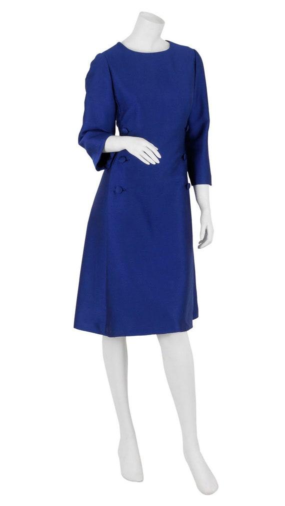 Exquisite Royal Blue 1960s Cocktail Dress