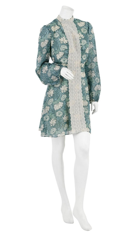 Late 60s / Early 70s Dress in William Morris-style