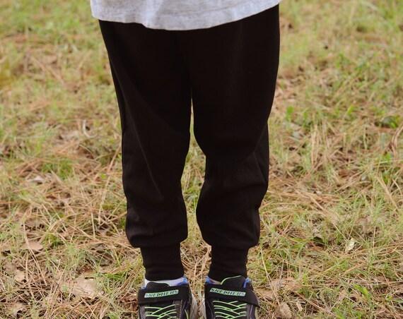 Unisex black joggers
