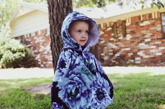 Blue Floral Riding Hood
