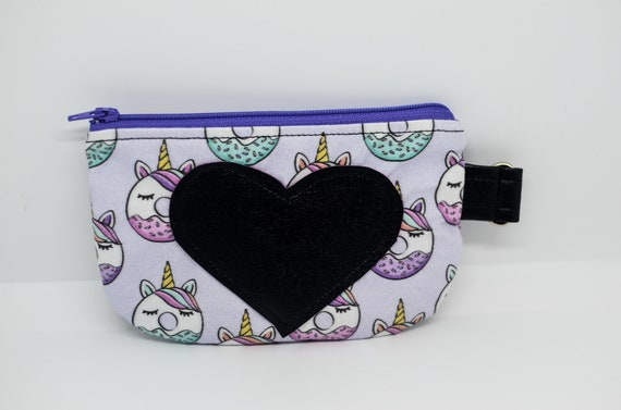 Donut Unicorn Small Coin Pouch