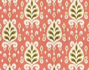 Pink And Oange Home Decor Fabric Cotton Fabric Girls Room Etsy