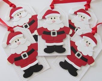 Santa Gift Tags, Christmas Santa Tags, Holiday Gift Tags, Santa Claus Gift Tags, Red, Santa Christmas Gift Tags, Santa Tags, Santa Claus