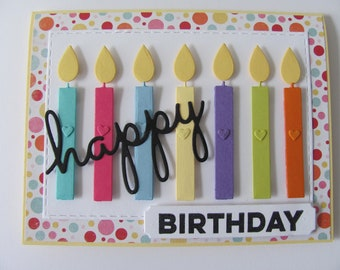 Happy Birthday Cards Candle Card Candles Handmade Gift For Her