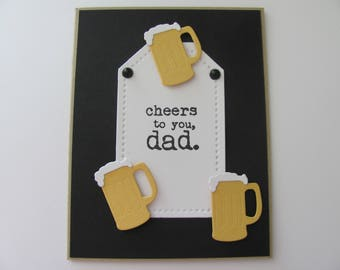 Beer Cards Fathers Day Handmade For Dad Mug Card Happy Birthday Gift Fro Him