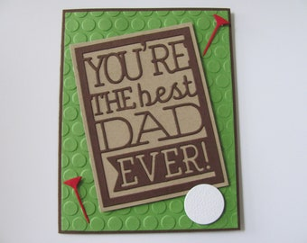 Fathers Day Golf Cards Handmade For DadDads Birthday Happy Card