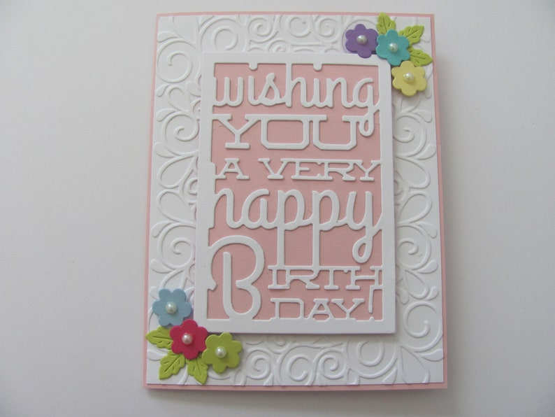Birthday Card Flower Happy Cards