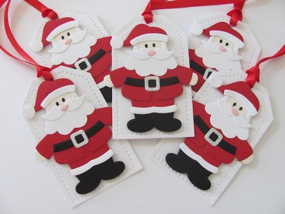 santa tags christmas tags santa gift tags holiday gift etsy