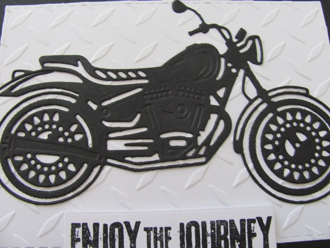 Motorcycle Card Happy Birthday Masculine Cards Embossed Day Gifts For Him Motorcycles