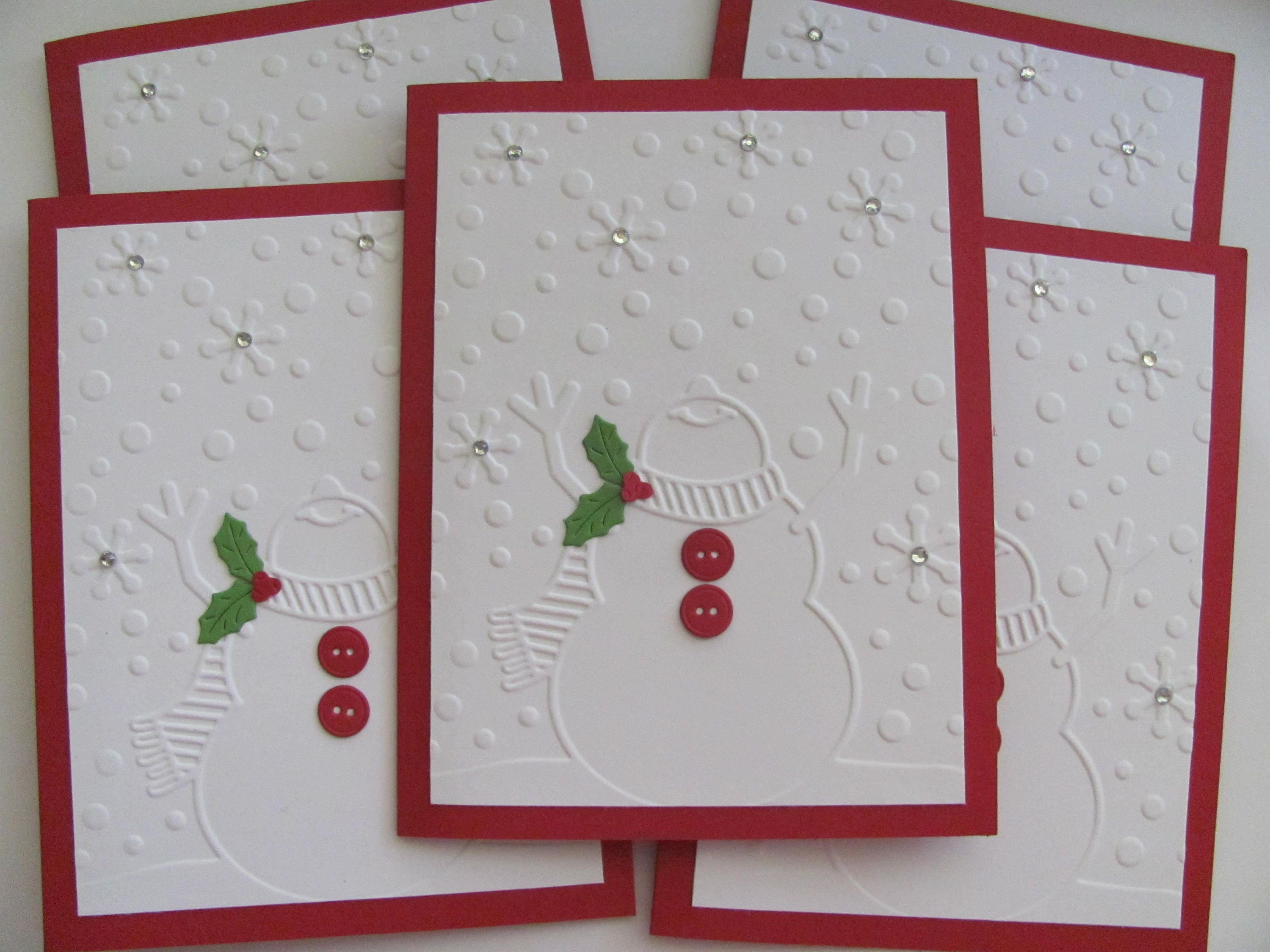 Embossed Snowman Christmas Cards Embossed Snowman Cards | Etsy
