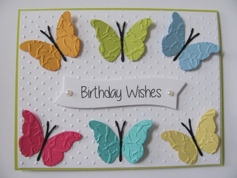 Butterfly Birthday Card Wishes Gifts For Her