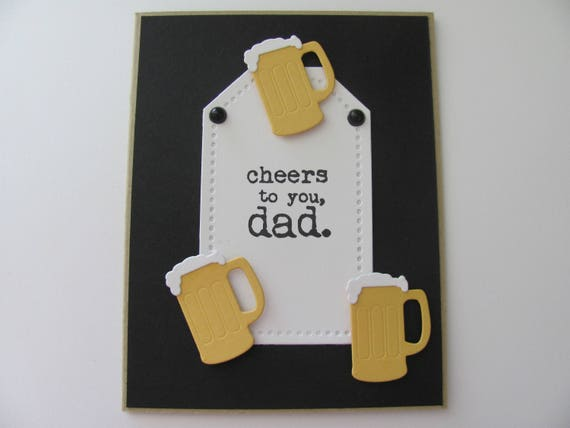 Beer Cards Fathers Day Handmade