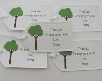 Teacher Gift Tags, Teacher Favor Tags, Tree Teacher Tags, Thank You For Helping Me Grow, Tree Tags, Teacher Tags, Teacher Appreciation