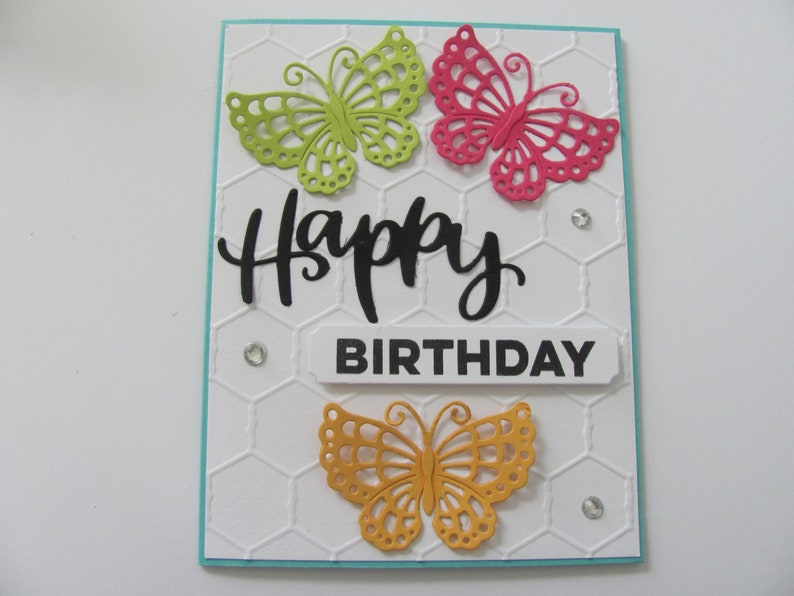 Handmade Greeting Card Birthday For Her Butterfly