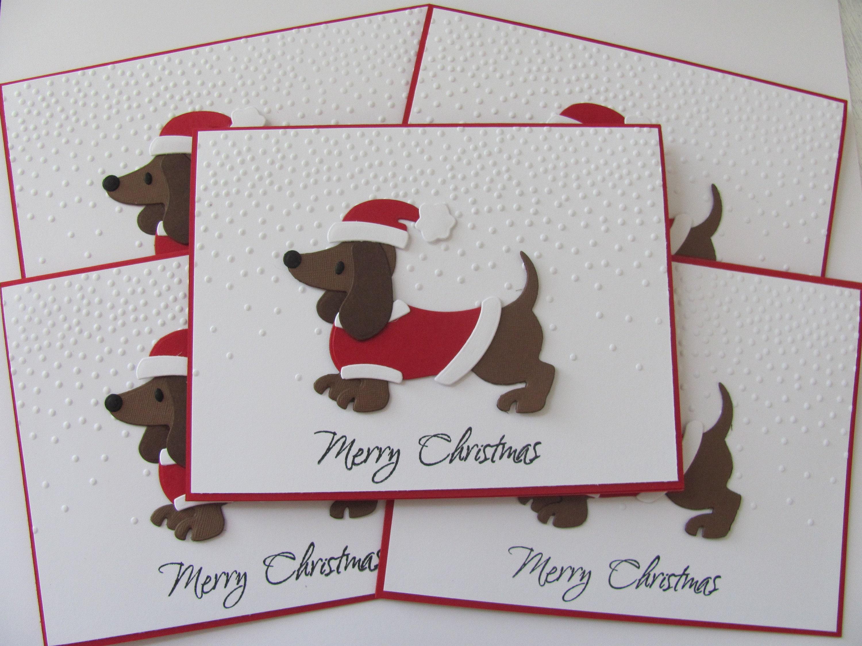 Dachshund Christmas Cards Dog Christmas Cards Dachshund Etsy