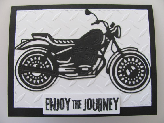 Motorcycle Card Happy Birthday Masculine
