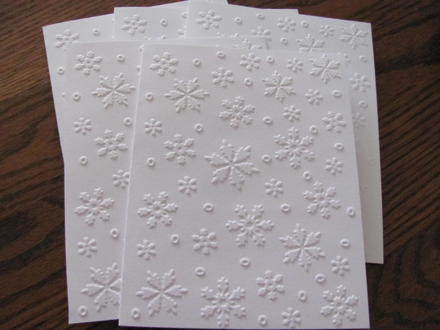 Snowflake Embossed Cards Christmas Card Set Embossed | Etsy