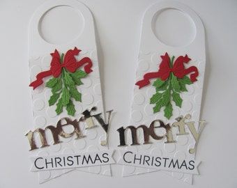 Christmas Wine Bottle Tags, Holly Gift Tags, Christmas Gift Tags, Set of 2, Wine Bottle Gift Tags,Merry Christmas Gift Tags, Christmas Tags